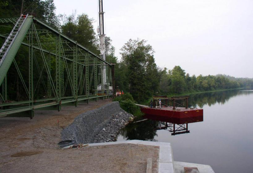 Chisolm Road Truss Bridge Over Oswegatchie